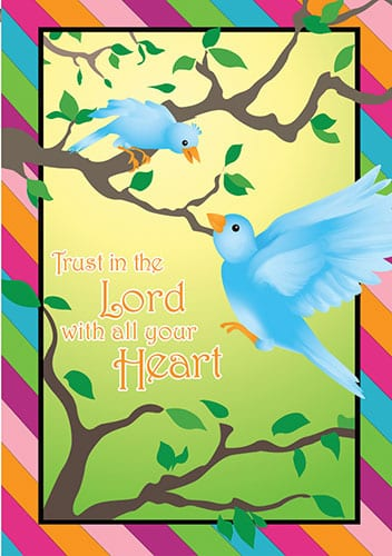 Trust In The Lord House Flag | Decorative Flag | House Flags | Garden House Flags