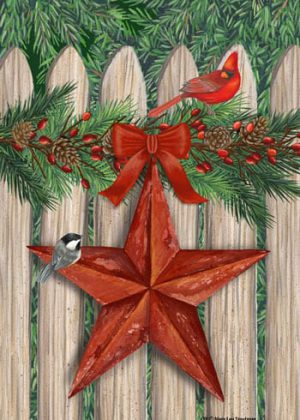 Picket Fence Star Flag | Christmas Flags | Winter Flags | Holiday Flags