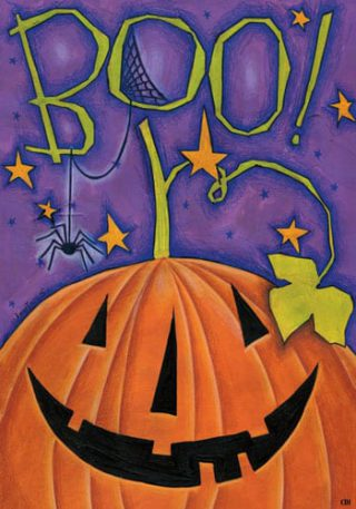Boo Pumpkin Flag | Fall Flags | Halloween Flags | Two-sided Flags | Flags