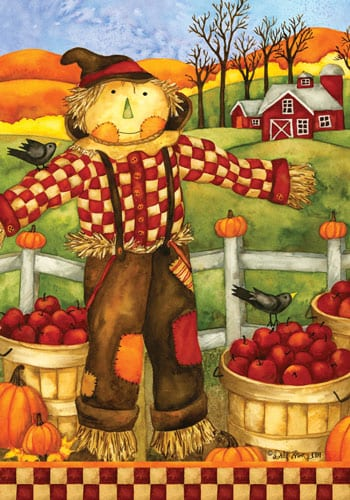 Checkered Scarecrow House Flag