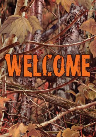 Camo Welcome Flag | Fall Flags | Welcome Flags | Two-sided Flags