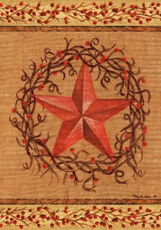 Star Wreath Flag | Decorative Flags | House Flags | Garden House Flags