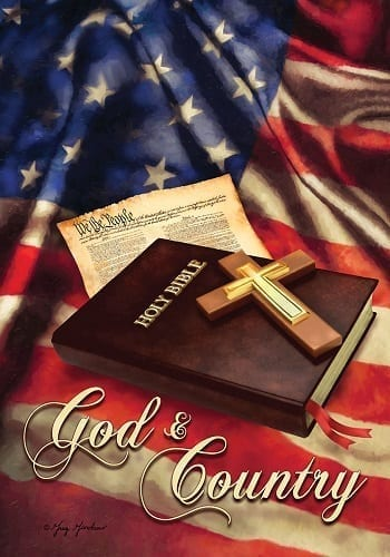 God & Country Flag | Patriotic Decorative Flags | House Flags | Garden House Flags