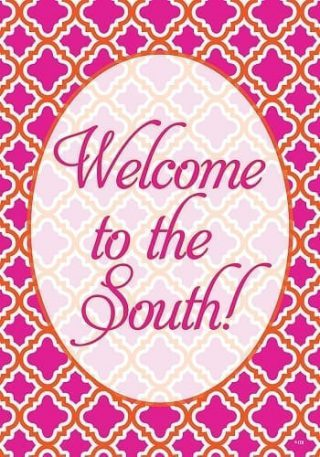 Welcome to the South Flag   Welcome Flags   Double Sided Flags   Flags