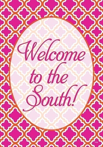 Welcome to the South House Flag | Decorative House Flags | Garden House Flags