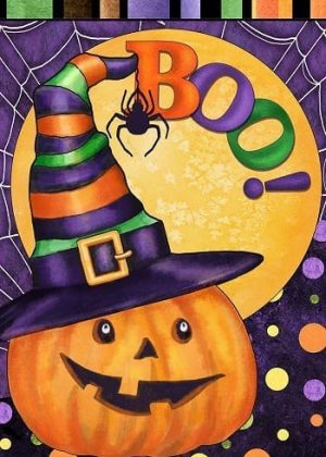 Boo Jack O'Lantern Flag | Fall Flags | Halloween Flags | Two-sided Flags
