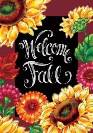 Welcome Sunflowers Flag   Flags   Decorative Flags   Garden House Flags
