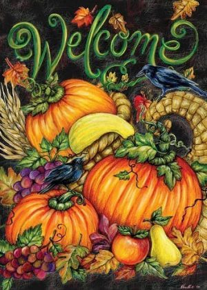 Harvest Welcome Abounds Flag | Thanksgiving Flags | Two-sided Flags
