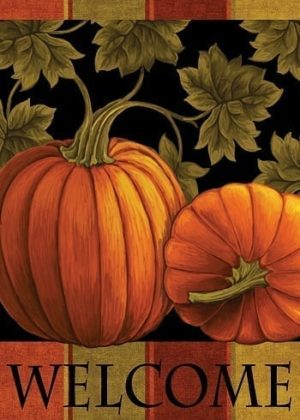 Welcome Pumpkin Harvest Flag   Thanksgiving Flags   Two-sided Flags