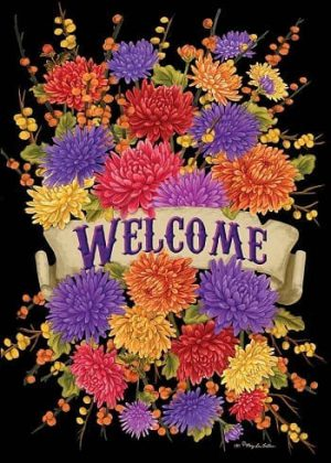 Brilliant Mums Flag | Fall Flags | Floral Flags | Welcome Flags | Cool Flags