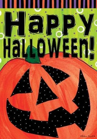 Halloween Happy Jack Flag   Fall Flag   Halloween Flags   Two-sided Flags