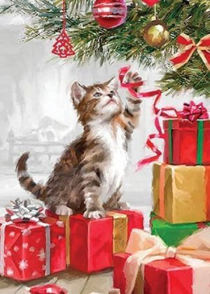 Christmas Kitten Flag | Christmas Flags | Animal Flags | Holiday Flags