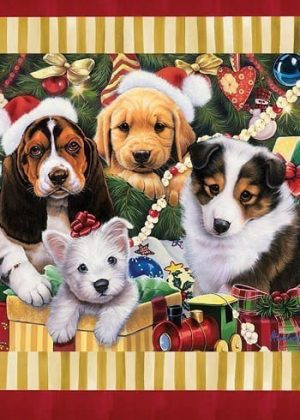 Christmas Puppies Flag | Christmas Flags | Animal Flags | Holiday Flags