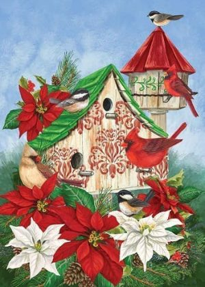Christmas Birdhouse Flag | Christmas Flags | Winter Flags | Holiday Flags