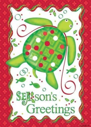 Christmas Turtle Flag | Christmas Flags | Two-sided Flags | Holiday Flags