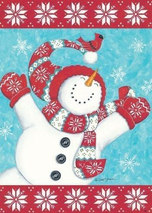 Joyful Snowman Flag | Christmas Flags | Winter Flags | Holiday Flags