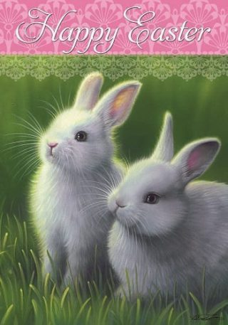 Easter White Bunnies Flag | Easter Flags | Double Sided Flags | Cool Flag