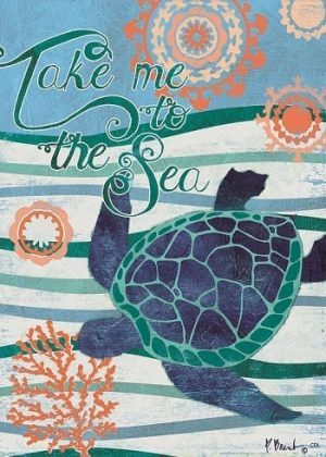 Take Me to the Sea Flag | Flags | Decorative Flags | Garden House Flags