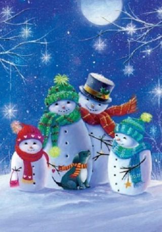 Happy Family Flag   Winter Flags   Snowman Flags   Cool Flags   Flags