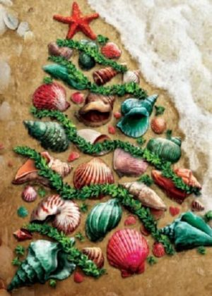 Seashell Tree Flag | Christmas Flags | Two-sided Flags | Holiday Flags