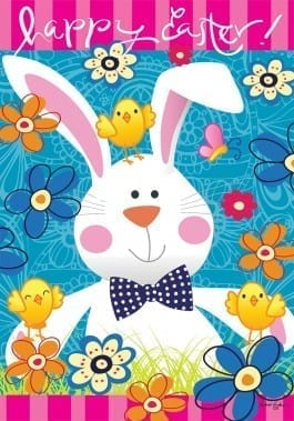 Easter Bunny Flag | Decorative Garden Flags | Easter Flags | Garden House Flags
