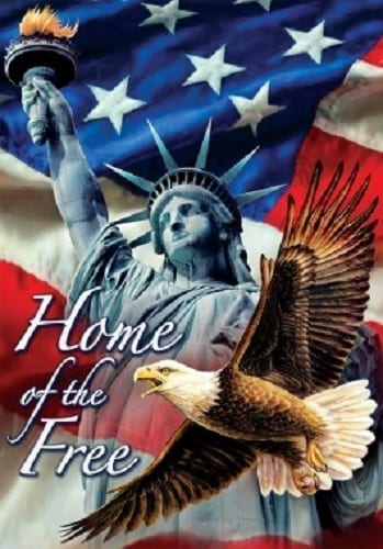 Liberty Home of the Free Flag | Patriotic Decorative Flags | Garden House Flags