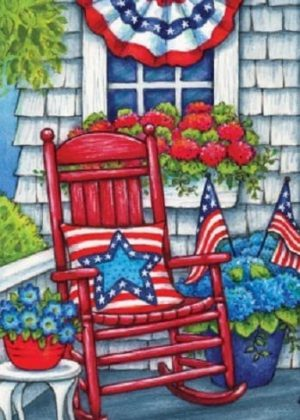 Patriotic Porch Flag | 4th of July Flags | Patriotic Flags | Summer Flags