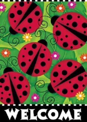 Ladybugs Flag | Welcome Flags | Spring Flags | Two sided Flag | Cool Flag