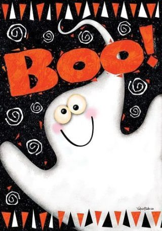 Boo Ghost Flag | Fall Flags | Halloween Flags | Two-sided Flags | Flags