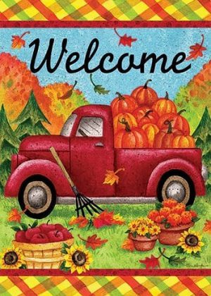 Fall Truck Flag | Fall Flags | Welcome Flags | Cool Flags | House Flags