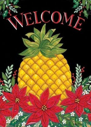 Welcome Christmas Pineapple Flag | Christmas Flags | Two-sided Flags