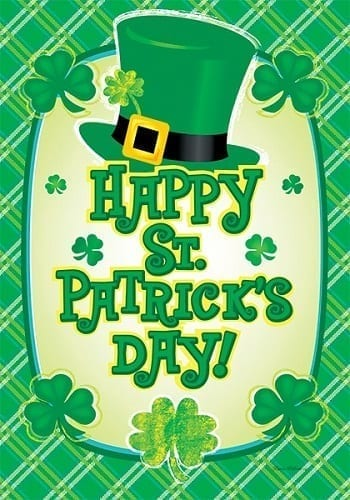 Happy St. Pat's Hat Flag | Decorative House Flags| Garden House Flags