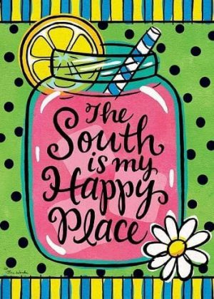 The South is My Happy Place Flag | Summer Flag | Two Sided Flags | Flag
