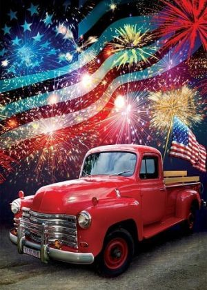 Patriotic Truck Flag | 4th of July Flags | Patriotic Flags | Summer Flags