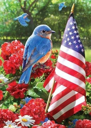 Bluebird Salute Flag | Garden Flags | House Flags | Garden House Flags