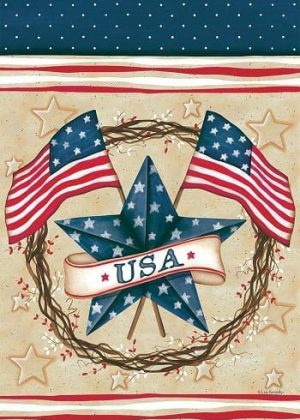Patriotic Star Wreath Flag | 4th of July Flags | Patriotic Flags | Cool Flags