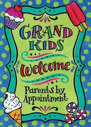Welcome Grandkids Flag | Decorative Flags | Flags | Garden House Flags