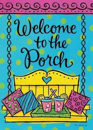Porch Welcome Flag | Welcome Flag | Spirng Flag | Double Sided Flags