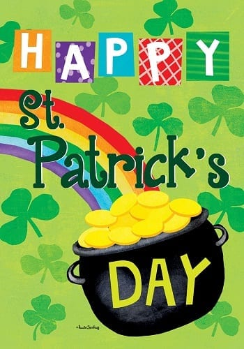 Rainbow Gold Flag | St. Patrick's Day Decorative Flags | Flag | Garden House Flags