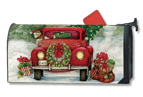 Bringing Home the Tree Mailbox Cover   Mailwraps   Garden House Flags