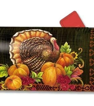 Give Thanks Turkey Mailbox Cover | Mailwraps | Garden House Flags