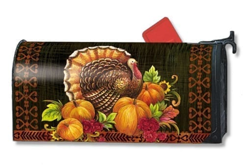 Give Thanks Turkey Mailwraps Mailbox Cover