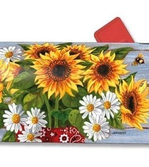 Bandana Sunflowers Mailbox Cover | Mailwraps | Garden House Flags