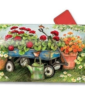 Geraniums by the Dozen Mailbox Cover | Mailwraps | Mailbox Covers