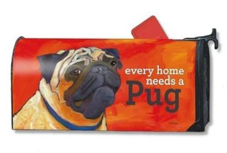 Pug Mailbox Cover   Mailwraps   Mailbox covers   Garden House Flags