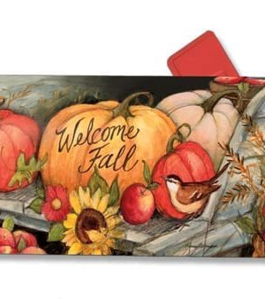 Welcome Fall Pumpkins Mailbox Cover | Mailwraps | Mailbox Covers