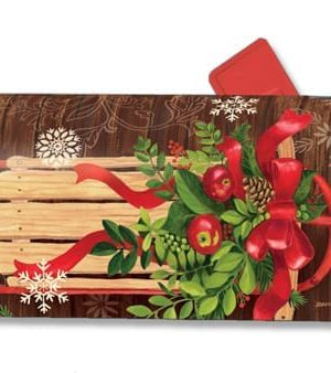 Mountain Cabin Sled Mailbox Cover | Mailwraps | Christmas Mailbox Cover