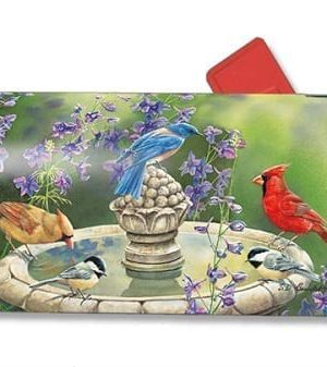 Birdbath Gathering Mailbox Cover | Mailwraps | Garden House Flags
