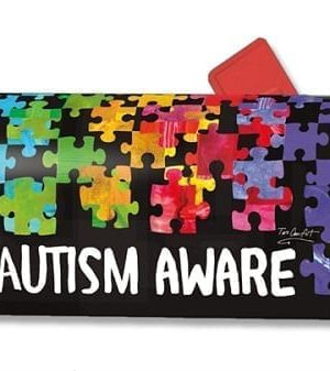 Autism Awareness Mailbox Cover | Mailwraps | Garden House Flags