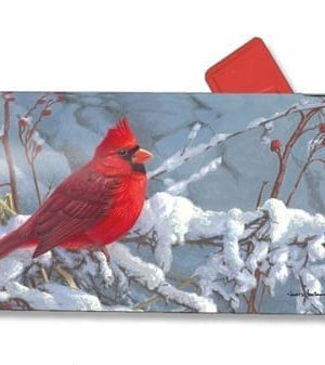 Cardinal In Snow Mailbox Cover | Mailwraps | Garden House Flags